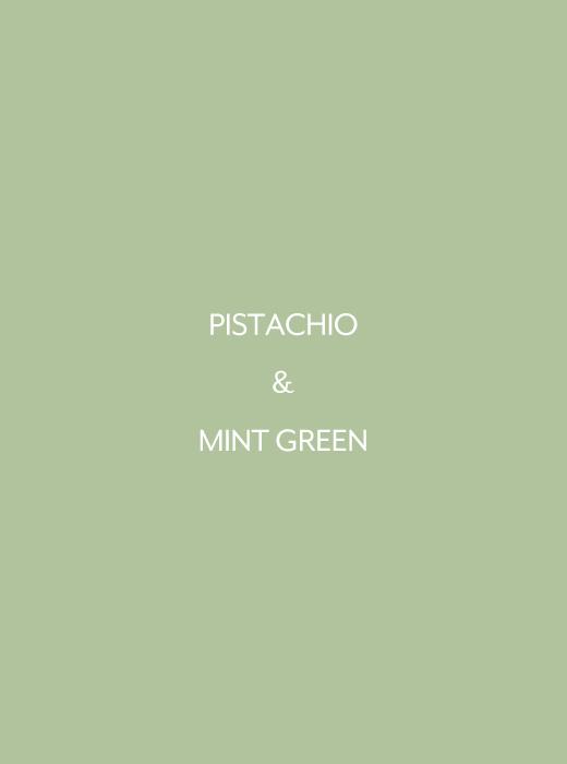 ピスタチオ&ミントグリーン