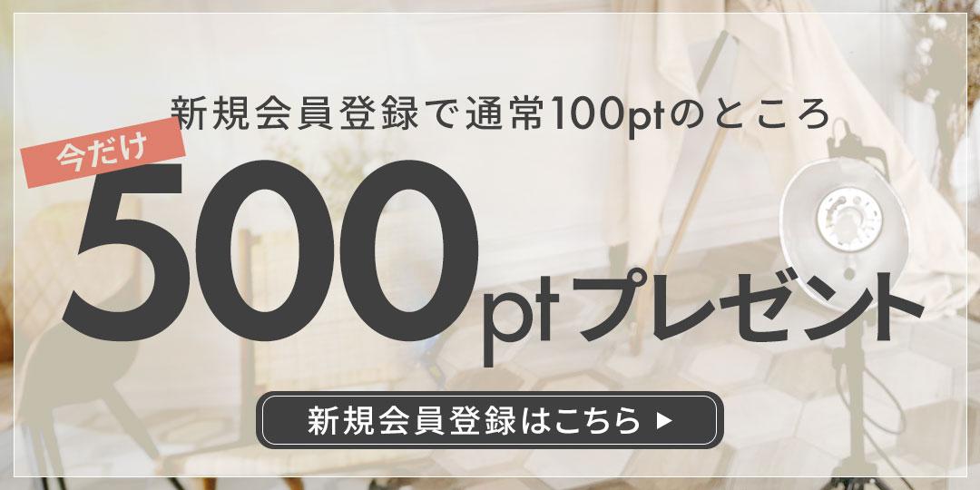 \今だけ!/ 新規会員登録で500ポイントプレゼント!